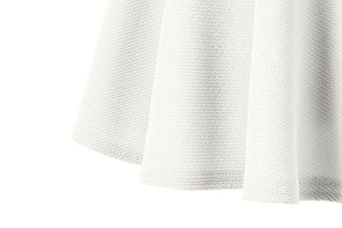 urban GoCo Falda Mujer Elástica Plisada Básica Patinador Multifuncional Corto Falda (XS, Blanco)