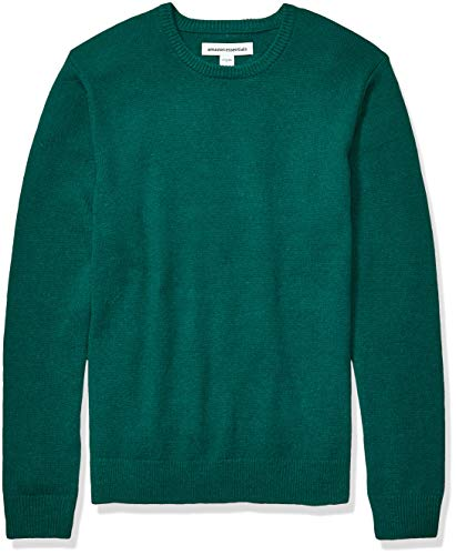 Amazon Essentials Men's Midweight Crewneck Sweater, Emerald, Large