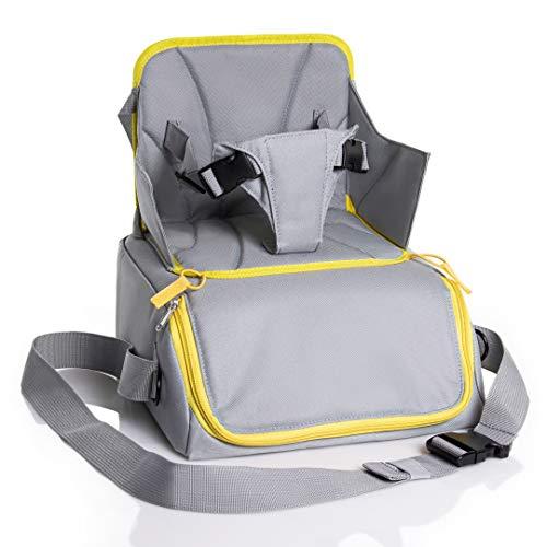 Seggiolino Da Viaggio Portatile | Rialzo Sedia Per Bambini | Alzabimbo Borsa Passeggino Pieghevole | Travel Booster Alzasedia Seat Multifunzione Universale