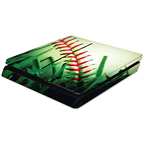 MightySkins Skin Compatible with Sony Playstation 4 Slim PS4 wrap Cover Sticker Skins Softball