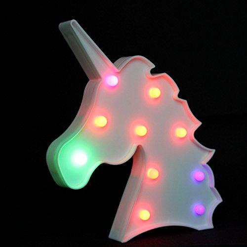 OYE HOYE Unicornio Luces LED luz de Noche lámpara de Noche lámpara de Mesa de Carpa señales Cambio para Pared decoración Dormitorio niños Sala de Estar niños Regalo Funciona con Pilas