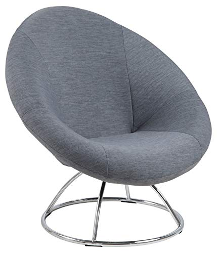 AC Design Furniture Sessel Gitte, B: 85 x T:82 x H: 82 cm, Stoff, Grau