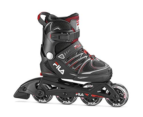 FILA Skates X-One Kinder Inlineskates Unisex Erwachsene, Schwarz/Rot, 38