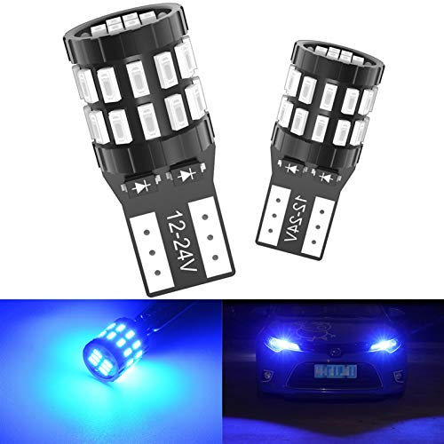 GCS Gcsheng 2X T10 LED LED/Bombilla de autobús W5W 168 194 Lighting Lights Ajuste para BMW Fit para Audi A6 C5 C6 C7 A3 8P 8V B5 B6 B7 B8 A7 A8 Q3 Q5 Q7 TT R8 (Emitting Color : Blue)