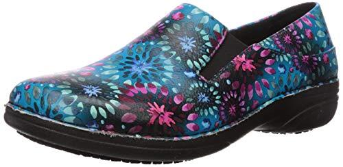 Spring Step Professional Women's Ferrara-Avatar Uniform Dress Shoe, Blue Multi, 10 Medium US