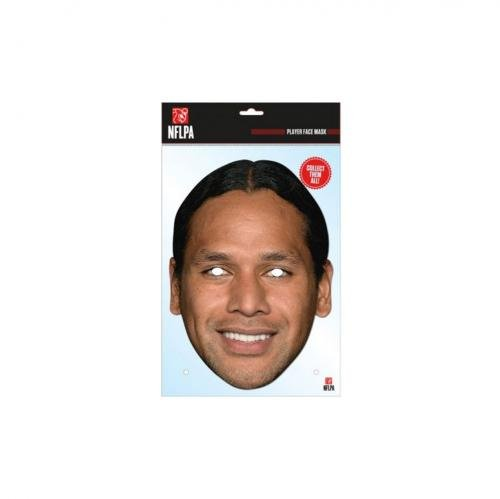 Troy Polamalu Mask, Mask-arade Face Card Mask, Character Fancy Dress