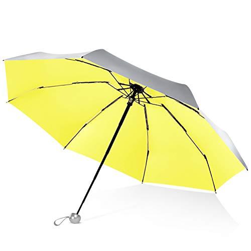 Paraguas amarillo fosforescente automático