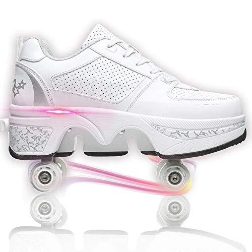 Mowday Rollschuhe - Schuhe mit Rollen Kinder Schuh, Klassische Rollschuhe für Erwachsene, Kinder und Jugendliche,42