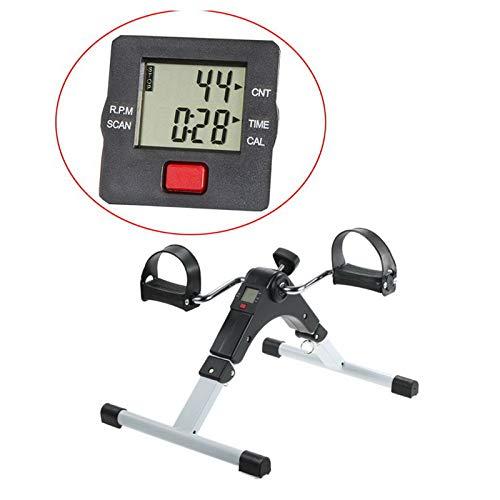 Vinteky Black-White Folding Mini Exercise Bike Pedal Exerciser With...