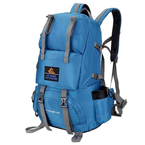 SHRAY 36-55L Sac à Dos d'extérieur Randonnée Sac d'alpinisme Camouflage Multifonction Haute capacité Imperméable Bleu Léger