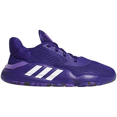 adidas Pro Bounce 2019 Low Shoe - Men's Basketball Collegiate Purple/White/Purple Size 13