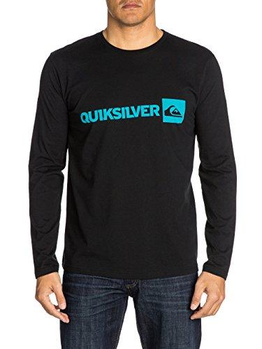 Quiksilver - Camiseta de Manga Larga con Cuello Redondo para Hombre, Color Negro, Talla l