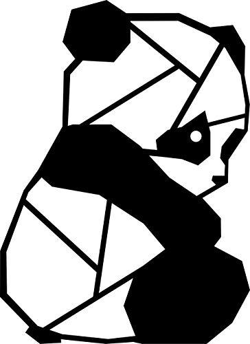 Hansmeier® Wanddeko aus Metall | 33 x 45 cm | Wasserfest | Für Außen, Innen, Balkon & Garten | Metalldeko | Deko Industrial | Motiv Panda