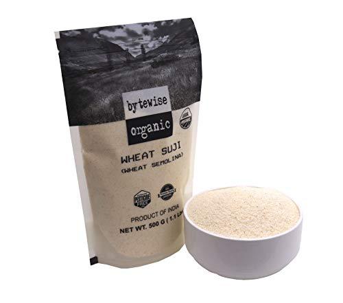 Bytewise Organic Durum Wheat Semolina Flour/ Suji, 3.5 Lb