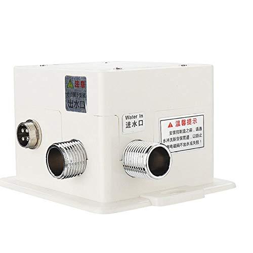 Grifo de fregadero de cocina con sensor infrarrojo automático de aleación de zinc, fregadero inteligente sin contacto, grifo frío único, montaje en cubierta de una sola manija