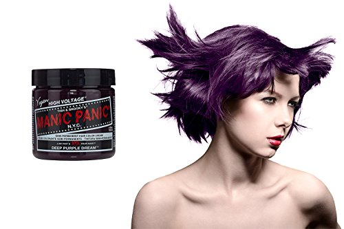 Manic Panic Deep Purple Dream Hair Colour Classic Cream Formula 4oz. by Manic Panic