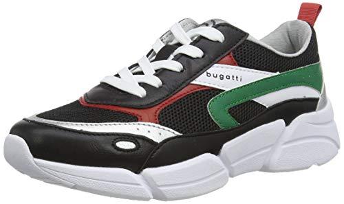 bugatti Damen 431668015959 Sneaker, Mehrfarbig (Black/Multicolour 1081), 38 EU