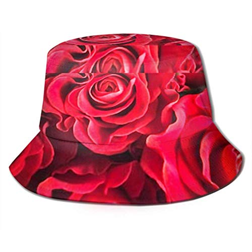 jenny-shop Mazzo di Rose fresche Fiore Sfondo Luminoso Viaggio di Pesca Estiva Cappuccio da Pescatore comprimibile Cappello da Pescatore Cappello da Pescatore Cappello da Pescatore