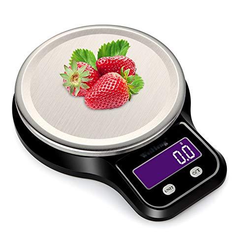 Balance de Cuisine Electronique Professionnelle, Balance numérique de cuisine de Haute Précision Ultra Mince,3kg/0.1g