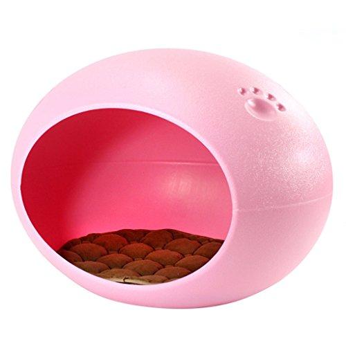 Pet Supplies Troublemaker Automne et Hiver Pet Nest Oval ovale en forme de chien Chenil Fossa ( couleur : Rose )