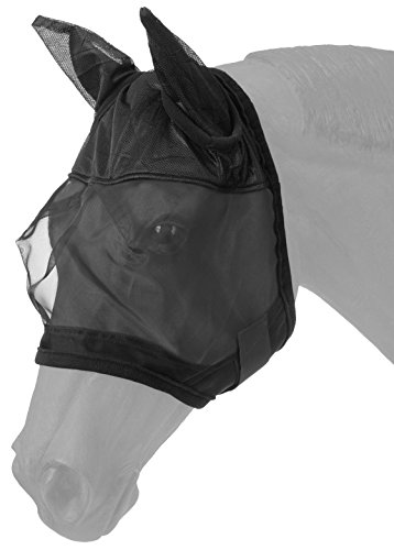 Tough 1 Fly Mask with Ears, Black, Miniature Size
