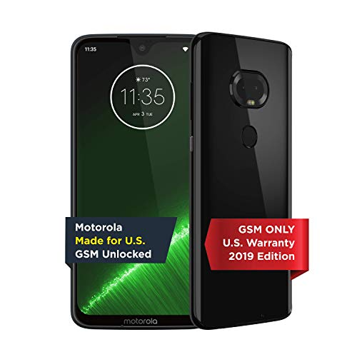 Moto G7 Plus | Unlocked | Made for US by Motorola | 4/64GB | 16MP Camera | 2019 | Black
