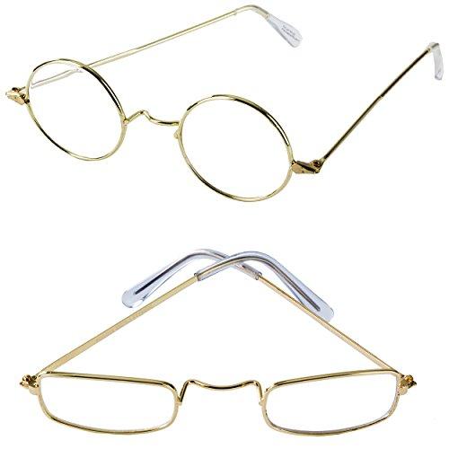 Old Man Costume Glasses - 2 Pack - Granny Glasses - Grandpa Glasses - Santa Glasses - Costume Fake Glasses by Tigerdoe