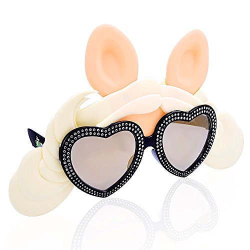 Costume Sunglasses Muppets Miss Piggy Dazzling Frame Sun-Staches Party Favors UV400