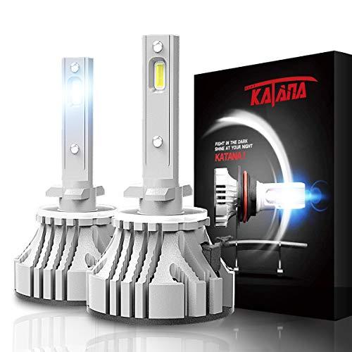 KATANA 880 LED Headlight Bulbs,CREE Chips 12000Lm 6500K Extremely Bright Conversion Kit,360 Degree Adjustable Beam Angle