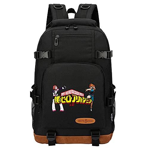 Zaino Anime My Hero Academia Borsa da scuola per studenti adolescenti nera,giapponesi borse da scuola zaini casual, zaino unisex adulto