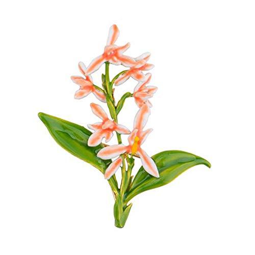 kliy Charms De Brocheesmalte Esmalte Planta Flores Mori Hermoso Fresco Dulce Orquídea Broche Mujeres S Regalos De Gama Alta