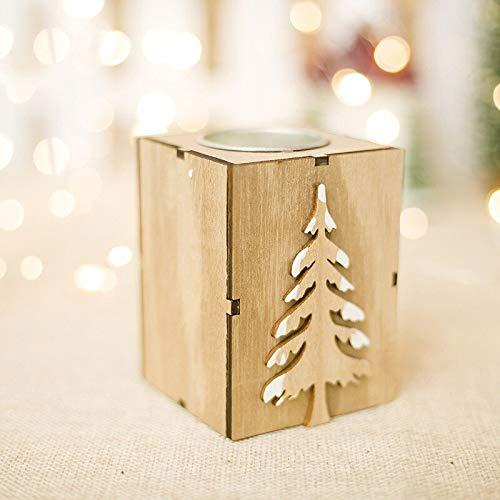 candelabro de madera de la marca Jimin
