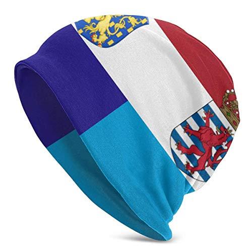 Gorros de Punto para Mujer para Hombre, Gorros de Invierno cálidos Unisex con Bandera de Holanda y Luxemburgo