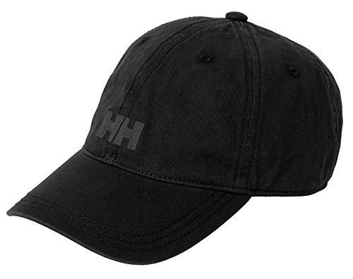Helly Hansen Logo Cap Gorra Unisex 100% algodón para protegerse del Sol Durante Actividades al Aire Libre, Hombre, Negro, STD