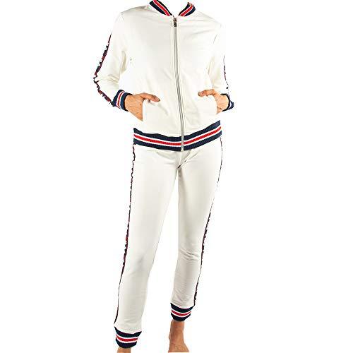 Fila Damen Lounge-Set, Cotton Brushed Fleece, Off White, XS