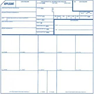 Fingerprint Cards, Applicant FD-258, 15 Pack