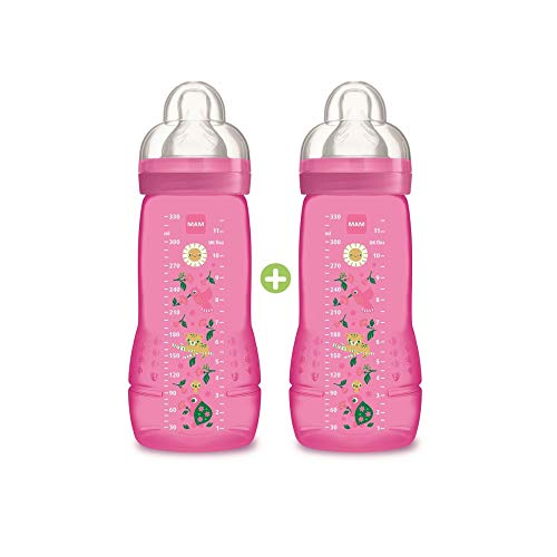 330ml Botella MAM bebé color Segunda Edad De 6 Meses