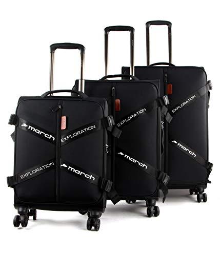 March15 Trading Exploration Suitcase 4 Wheels Set 3pcs.