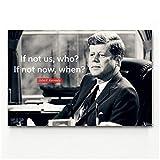 linshel John F. Kennedy Minimalismus Wandkunst Bild Poster