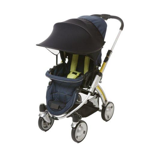 [Manito] New Sunshade / Parasole per Passeggino, Passeggino e seggiolino auto, Ampio Sunblock, Taglio UV, universale e di facile installazione (Black)