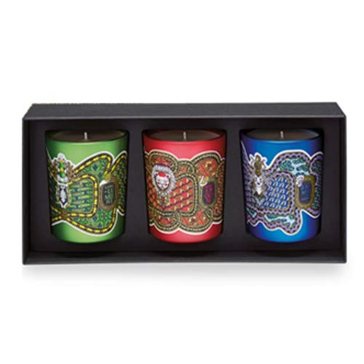 狂乱議題衝突ディプティック フレグランス キャンドル コフレ 3種類の香り 190g×3 DIPTYQUE LEGENDE DU NORD SCENTED HOLIDAY 3 CANDLE SET [6586] [並行輸入品]