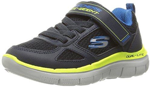 Skechers Skechers Boys Flex Advantage 2.0 Leather Mesh Breathable Trainers