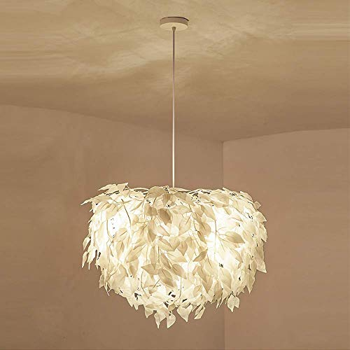 LKK-KK Araña, Dormitorio Principal calienta la lámpara y la Personalidad Creativa Sala Hoja araña de 70 cm de diámetro