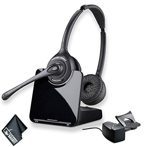 Plantronics CS520 Wireless Headset System Bundle and HL10 Handset Lifter