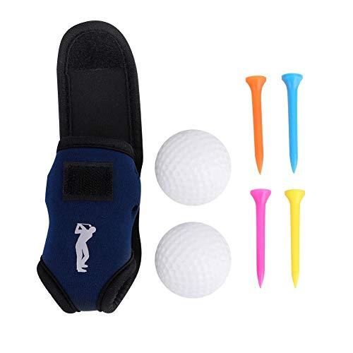 Dwawoo Golfballtasche, Mini Golfball Tragetasche Golf Utility Taille mit 2 Bällen, 4 Golf Tees