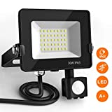 LED Floodlight with Motion Sensor, BEIEN 30W Outdoor Security Lights, Super Bright 2400Lumen Daylight White,...