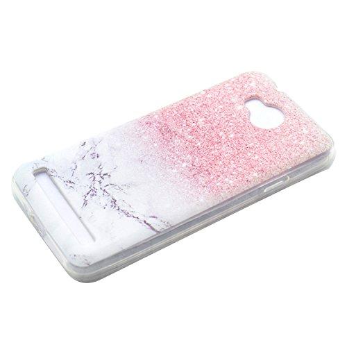 Funluna Huawei Y3 II / Y3 2 Hülle, Transparent Weiche TPU Silikon Handyhülle Feder Muster Hülle [Crystal Klar] TPU Bumper Case Schutzhülle für Huawei Y3 II/Huawei Y3 2 - Marmor - 3