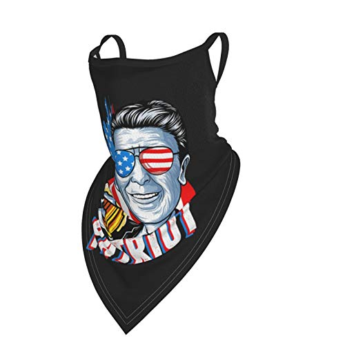 Bandana Neck Gaiter Face Mask Ronald-Reagan Balaclava Dust Cover Mask for Men and Women