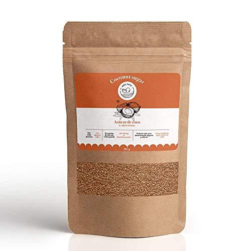 INDO TASTE- Azúcar de coco 100% Puro y natural l Apto para diabéticos, celiacos y alimentaciones veganas l Ni refinado ni blanqueado. (500 gramos)