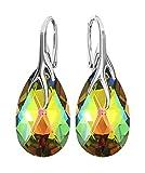 * almendra * 22MM Color * Vitrail Medium * Bonito Pendientes–Pendientes con Cristales de Swarovski Elements–Fantástica Pendientes con caja de regalo BA/39